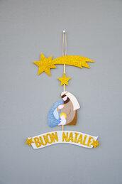 Fuoriporta natalizio, la natività, 30 x 20 cm