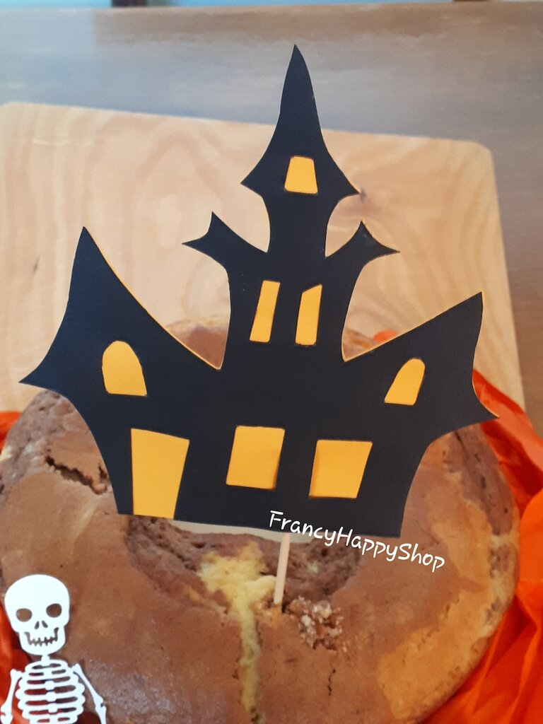 Addobbi Tavola Per Halloween cake topper casa stregata halloween decorazioni torta bambini,addobbi  halloween tavolo torta,decorazione dolci,festa a