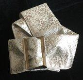 Cintura 100%seta elegante in tessuto di Obi (fascia del kimono) [colore argento]