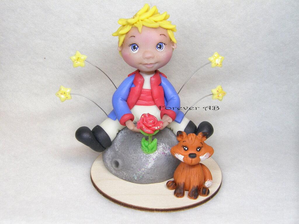 Cake topper Piccolo Principe nascita battesimo primo compleanno bimbo