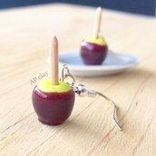 Orecchini mele caramellate in Fimo