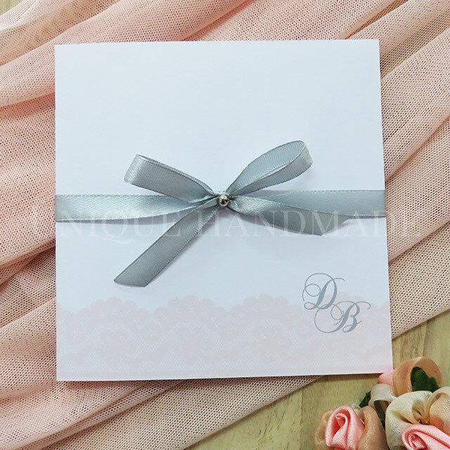 Partecipazioni Matrimonio Con Fiocco.Partecipazione Nozze Con Fiocco Feste Matrimonio Di Unique H