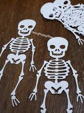 Scheletro Halloween party decorazioni tavola festa bambini,fustellati,zucca,creazioni artigianali,scrapbooking,coriandoli,addobbi festa