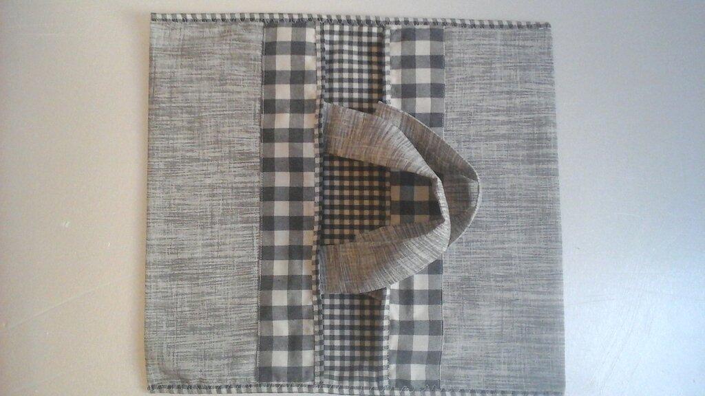 Maxi Portatorta, porta teglie o torte in stoffa, linea Basic in grigio