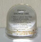 Photo globe con stelle fluttuanti all'interno personalizzabile con due foto