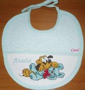 """Bavaglino """"Baby Pluto"""" -punto croce-"""