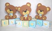 Centrotavola orsetto festa di compleanno o battesimo - Teddy bear Centerpieces