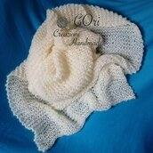 Stola in mohair bianco