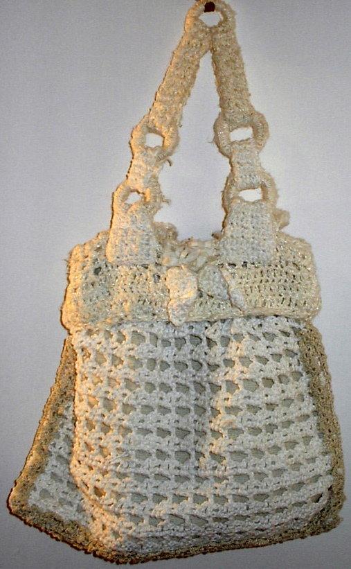 borsetta di cotone bianca