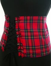 Corsetto Mini Corsetto Cintura Accessori Regalo Tartan