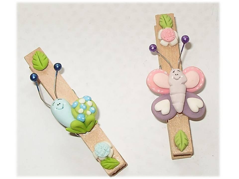 Mollette farfalla-lumaca-bomboniera nascita battesimo