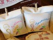 sacchetto portaconfetti prima comunione dipinto a mano