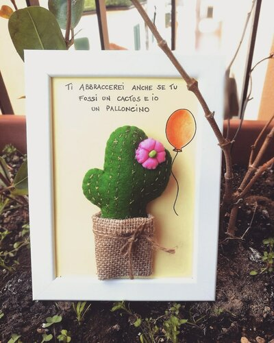 Quadro Cactus Feltro