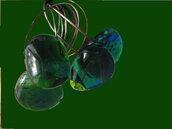 anello in acciio e vetri artistici fatto a mano handmade