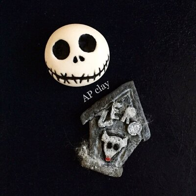 Set calamite The nightmare before Christmas in Fimo