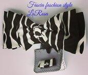 Fascia da donna capelli fashion style motivo zebrata