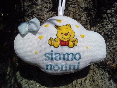 Fiocco nascita winnie the Pooh siamo nonni