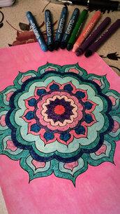 Mandala sfondo rosa