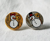orecchini natalizi pupazzi di neve