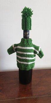 Copribottiglia maglioncino in lana
