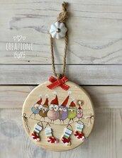 Rondelle di legno massello natalizie By Creazioni GiaRó  Ⓒ
