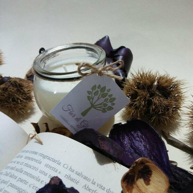 Candela Serpeverde in cera di soia