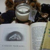Candela Tassorosso in cera di soia