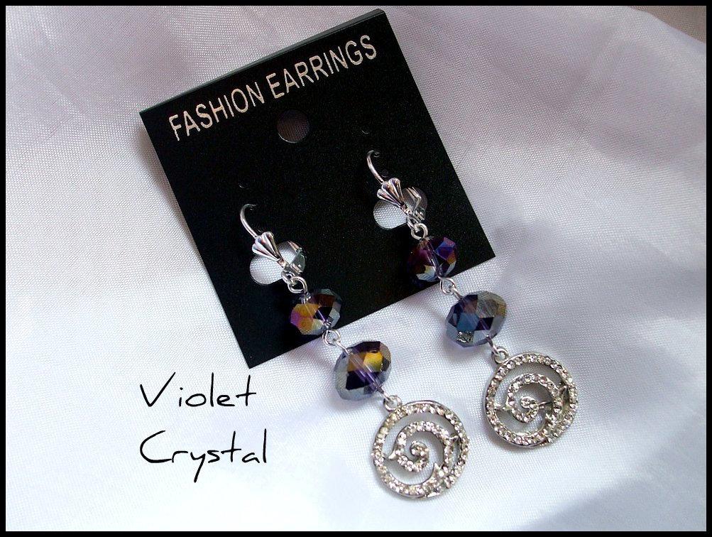 Orecchini ''Violet Crystal''