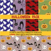 Halloween Carte Digitali Pattern - per i tuoi lavori creativi