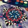 Mandala spirale acquerello