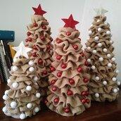Alberello di Natale in tela yuta di cm 35.