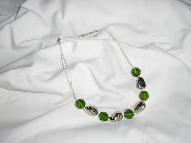 Collana sasso verde