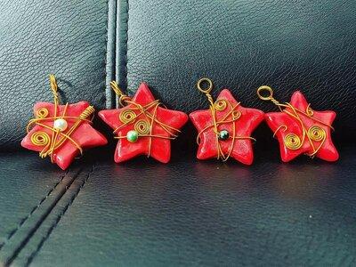 Ciondolo Stella Rossa Natalizia
