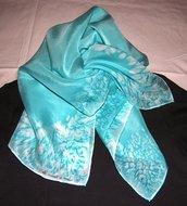 foulard di seta azzurro