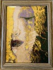 Freya's tears, riproduzione ricamata quadro d'autore.