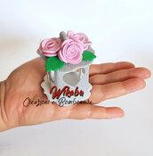 Lanterna mini handmade bomboniera segnaposto pensierino fine festa compleanno con rose