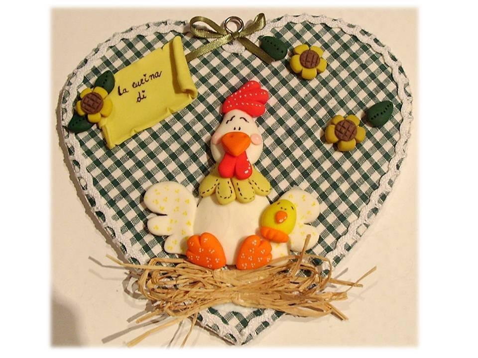 Targa cucina- Gallina country