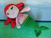 Sirenetta bambola amigurumi
