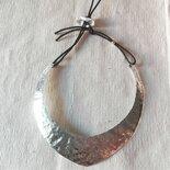 """collana """"Punta"""" in piastra di alluminio"""