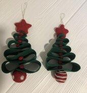 Decorazione natalizia albero feltro