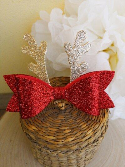 Cerchietto per capelli con fiocco natalizio. - Feste ...