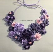 Collana kanzashi con fiori 4.6