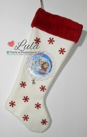 Calza Natale Befana Nome Colore Immagine personalizzata Idea regalo Frozen Elsa