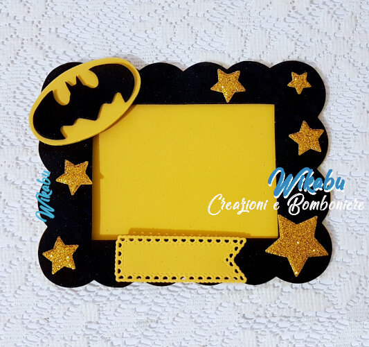 cornice porta foto batman per ragazzi e bambini amanti del super eroe decoro stanza regalo compleanno