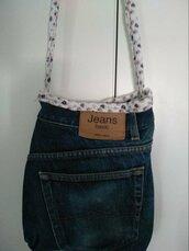 Tasca di jeans a tracolla
