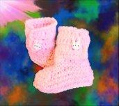 Scarpine  neonato uncinetto crochet