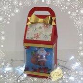 Scatola Natale, Addobbi Natale, Scatoline di Natale, Regali di Natale, Bomboniere, Milk Box
