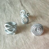 """Anelli """"Spirale"""" in alluminio"""
