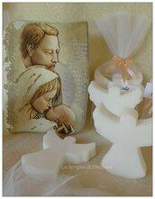 Saponetta angelo segnaposto nascita battesimo comunione cresima