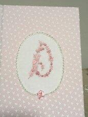 Diario del neonato, album della nascita con Iniziale del bambino, regalo battesimo